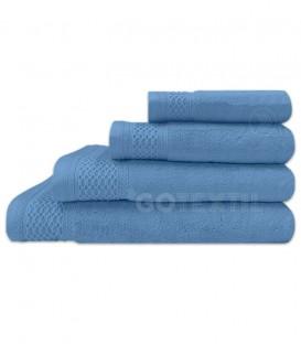 GOTEXTIL Toalla Trovador LUXOR Azul Rizo 100% Algodón 620gr