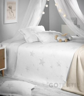 GOTEXTIL Colcha Bouti Juvenil Reversible 7622 STARS Gris. ATENAS