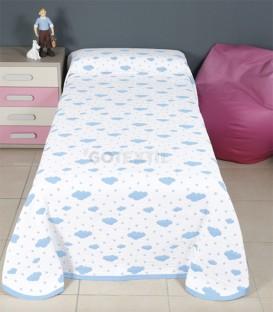 GOTEXTIL Colcha Bouti Reversible 31116 Infantil Blanco/Azul. BH Textil