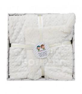 GOTEXTIL Manta Infantil Borreguito 9253 color blanco 80x110 Gamberritos