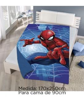 GOTEXTIL Colcha Bouti SPIDERMAN de verano Medida cama 90cm