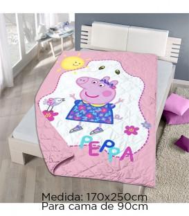 GOTEXTIL Colcha Bouti PEPPA PIG de verano