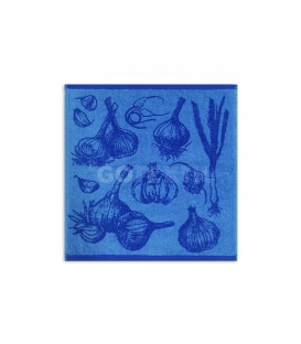 TROVADOR. Paño de Cocina Modelo 297 AJOS Azul GOTEXTIL
