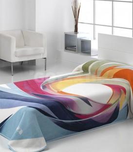 ¡ENVÍO GRATIS! Manta Mora HARMONY 153 Multicolor Tejido GOTEXTIL