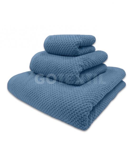 GOTEXTIL Toalla Trovador ONYX Grano de Arroz Color Azul 100% Algodón