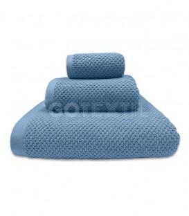 Toalla Trovador ONYX Grano de Arroz Color Azul 100% Algodón GOTEXTIL