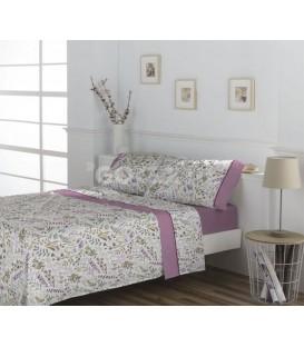 GOTEXTIL Juego de Sábanas AMARI Rosa DON ALGODÓN cama de 150cm