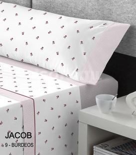 GOTEXTIL Juego Sábanas Calaveras Estampadas JACOB BURDEOS cama 150cm Kabely CATOTEX