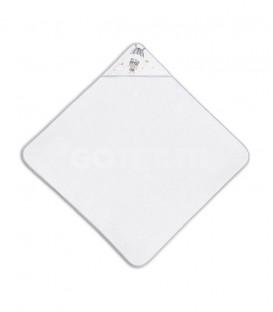 GOTEXTIL Capa de baño PARACAIDISTA 01228 Blanco/Gris 100x100cm Interbaby Extendida