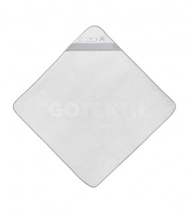 GOTEXTIL Capa de baño THREE ANIMALS 01218 Blanco/Gris 100x100cm Interbaby Extendida