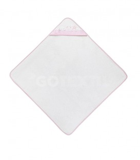 GOTEXTIL Capa de baño THREE ANIMALS 01218 Blanco/Rosa 100x100cm Interbaby Extendida