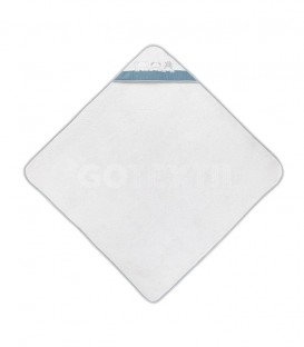 GOTEXTIL Capa de baño THREE ANIMALS 01218 Blanco/Petróleo 100x100cm Interbaby Extendida