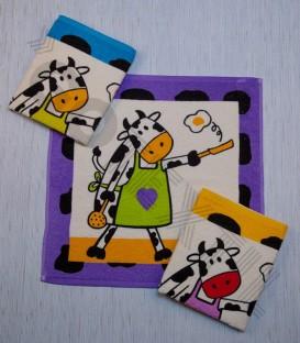 Paño de Cocina Arcanova modelo Vaca