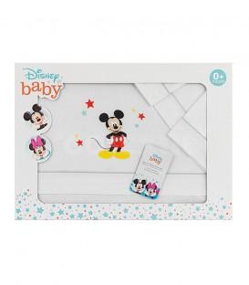 GOTEXTIL Juego Sabanas cuna Disney MICKEY MOUSE MK027 INTERBABY Packaging