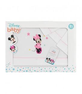 GOTEXTIL Juego Sabanas cuna Disney MINNIE MOUSE MN027 INTERBABY Packaging