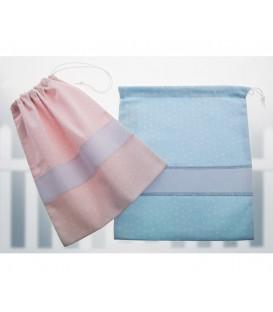 GOTEXTIL Bolsas de Merienda Multiusos 10294 azul y rosa Gamberritos