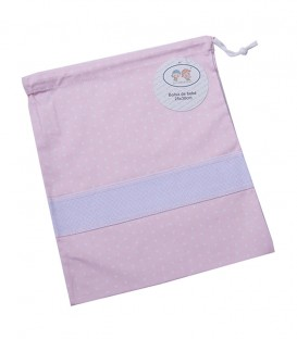 GOTEXTIL Bolsa de Merienda Multiusos 10294 rosa. Gamberritos