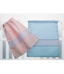 GOTEXTIL Bolsas de Merienda Multiusos 10294 rosa y azul Gamberritos