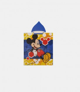 GOTEXTIL Poncho toalla playa MICKEY MIC 2002 con capucha 55x110cm Dibujo Delantero