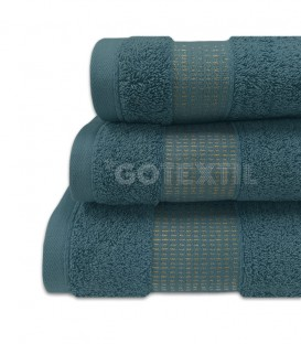 GOTEXTIL Juego de toallas Algodón NOOR Azul Ampliado. Vidal Home