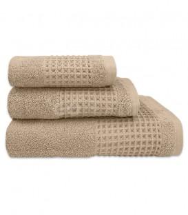 GOTEXTIL Juego de toallas Algodón FAVO beige. Vidal Home