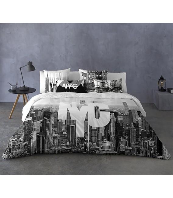 GOTEXTIL Funda Nórdica NYC Naturals 100% algodón cama 150cm Original