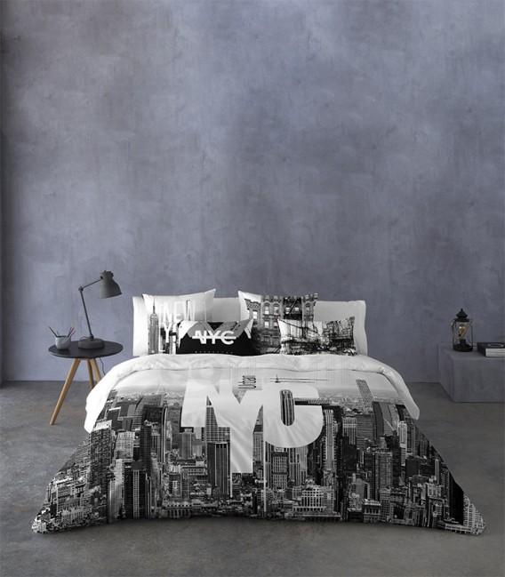 GOTEXTIL Funda Nórdica NYC Naturals 100% algodón cama 150cm