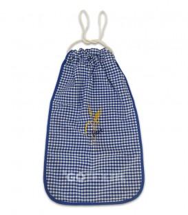 GOTEXTIL Bolsa de Pan bordada cuadros vichy azul