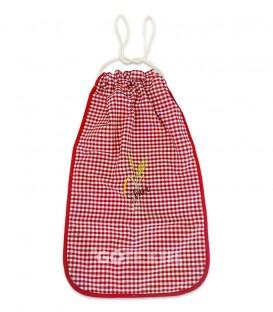 GOTEXTIL Bolsa de Pan bordada cuadros vichy rojo