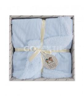 GOTEXTIL Manta Infantil Borreguito 10481 color Azul 80x110 Gamberritos