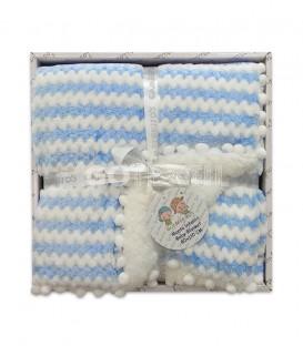 GOTEXTIL Manta infantil 10482 azul 80X110 Gamberritos