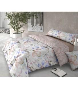 GOTEXTIL Funda Nórdica Pierre Cardín reversible HOJARASCA rosa cama 150cm