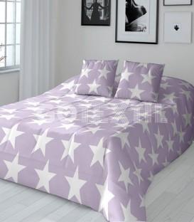 GOTEXTIL Edredón Conforter Reversible Javier Larrainzar STAR malva / gris Detalle