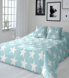 GOTEXTIL Edredón Conforter Reversible Javier Larrainzar STAR aguamarina /gris detalle