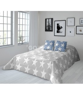 GOTEXTIL Edredón Conforter Reversible Javier Larrainzar STAR azul / gris Reverso