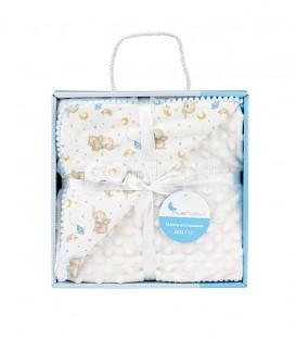 GOTEXTIL Manta Bebe Burbuja ELEFANTE 919 Azul INTERBABY Packaging