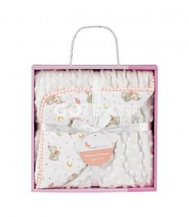 GOTEXTIL Manta Bebe Burbuja ELEFANTE 919 Rosa INTERBABY Packaging