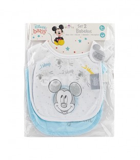 GOTEXTIL Pack 2 Baberos Punto MICKEY 1 Interbaby Packaging