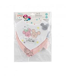 GOTEXTIL Pack 2 Baberos Bandana MINNIE 2 Interbaby Packaging