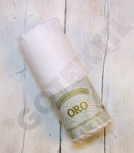 Sábana bajera ajustable serie Oro de algodón 100% color blanco
