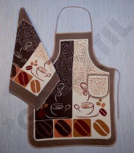 Delantal Rizo de Algodón Modelo Café