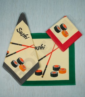 Paño de Cocina Trovador Modelo Sushi