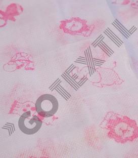 Pack 2 Gasas de Bebé algodón Estampadas Rosa