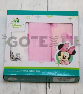 Pack 3 Gasas Estampadas Minnie Mouse