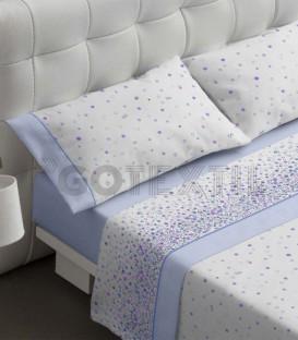 Juego de sábanas 460 azul Burrito Blanco