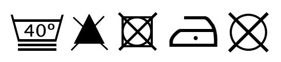 Símbolos de lavado del juego de sábanas